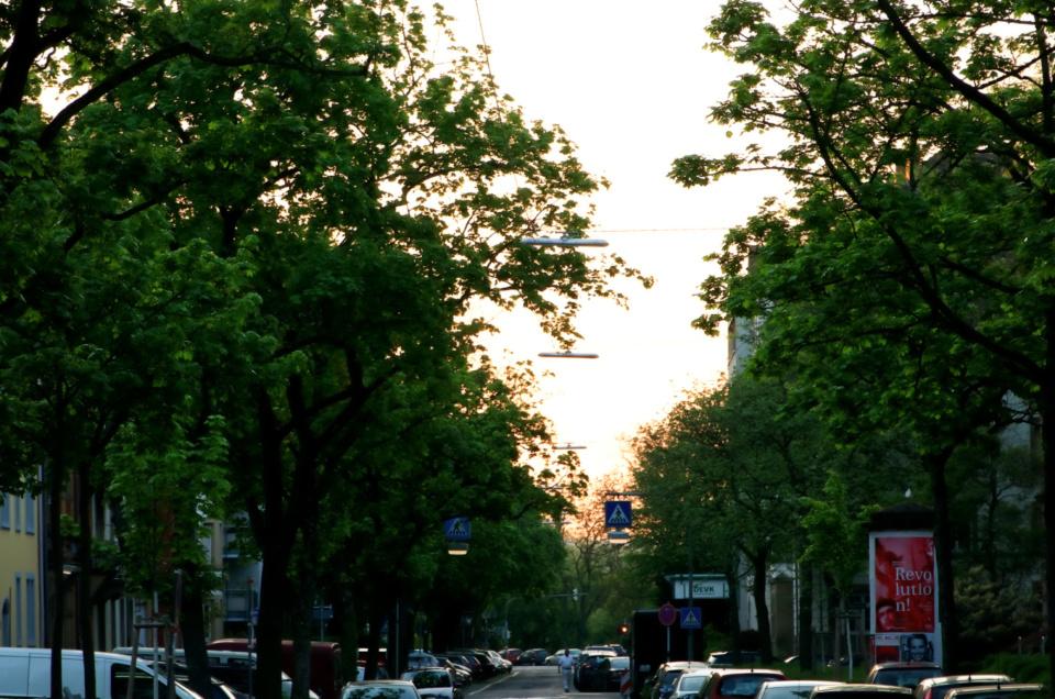 Karlsruhe vor dem Sonnenaufgang