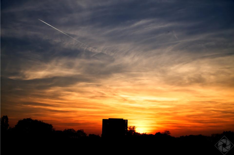 Sonnenuntergang in Karlsruhe